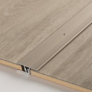 PARADOR Übergangsprofil Aluminium eloxiert Silber/Edelstahl, 100cm