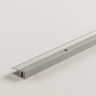 PARADOR Abschlussprofil Aluminium eloxiert Silber/Edelstahl, 100cm