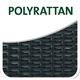 Verwendetes Material: POLYRATTAN