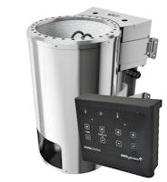 Karibu Plug & Play - Bio-Kombiofen 3,6 kW mit externer Steuerung Easy schwarz