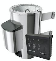 Karibu Saunaofen 3,6 kW Plug & Play finnisch mit externer Steuerung Easy schwarz