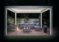 Inodeq Design Aluminium Pavillon Opale 620 inkl. automatisch kippbarem Lamellendach