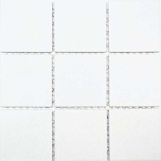 Feinsteinzeug Mosaik 5 Mm Uni Weiss Matt 10x10 Cm Antislip