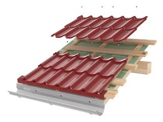 Roofart Zweimodulares Blechdachpanel + Befestigungsschrauben, versch. Farben
