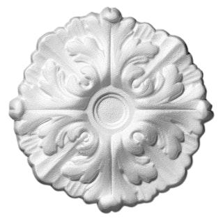 Saarpor Decosa Rosette Daphne, weiß, Ø 22 cm, 1 Stück