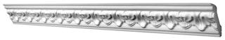 Saarpor Decosa Zierprofil geschäumt, Gabriella, weiß, Länge 2m, 1 Stück