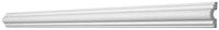 Saarpor Decosa Zierprofil Michelle, weiß, Länge 2m, 1 Stück
