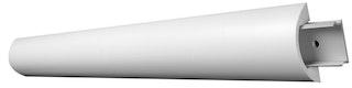 Saarpor Decosa Klipsprofil Thea, weiß, incl. 3 Klipse, Länge 1,2m, 1 Stück