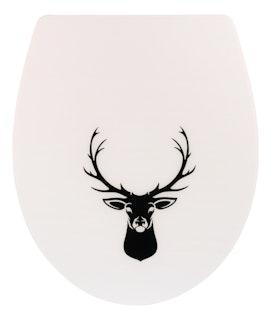 WC-Sitz High-Gloss Dekor Trophäe Duroplast mit Absenkautomatik und Take-Off