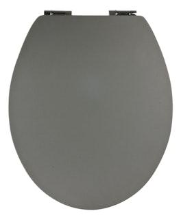 WC-Sitz Soft Touch Grau Holzkern mit Absenkautomatik und Fast-Fix