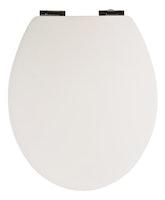 WCs-Sitz Soft Touch Weiß Holzkern mit Absenkautomatik und Fast-Fix
