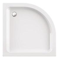 Acryl-Brausewannen Set Simpata Round 90 x 90 x 6,5 cm, weiß