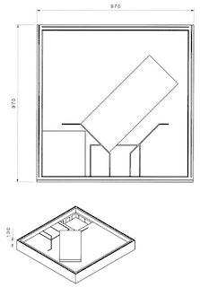 Wannenträger zu Acryl-Brausewanne Teso 100 x 100 x 2,5 cm