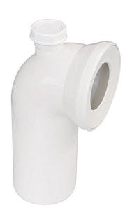 Sanitop WC-Anschlussbogen 90°, weiß mit Zusatzanschluss