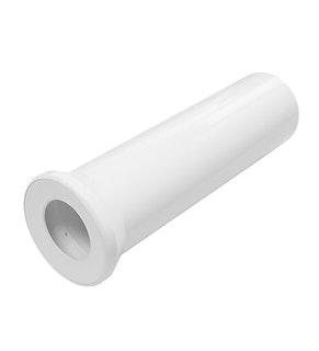 Sanitop Anschlussrohr für Stand-WC 400 mm weiß