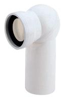 Sanitop Anschlussrohr für Stand-WC mit Kugelgelenk weiß