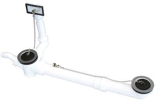 Sanitop Ab- und Überlaufgarnitur für Doppelspülen 1 1/2