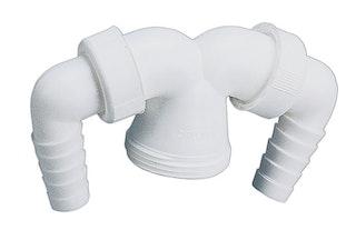 Sanitop Geräte-Doppelanschluss für Verstellrohre