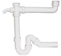 Sanitop Röhrengeruchverschluss für Doppelspülen 1 1/2 x 40 mm