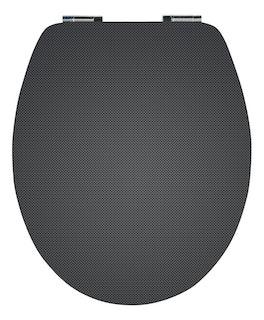 Sanitop WC-Sitz High-Gloss Dekor Carbon Optik