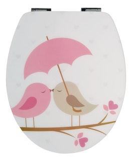 Sanitop WC-Sitz High-Gloss Dekor Vogelpaar