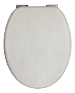 Sanitop WC-Sitz Venezia mit Echtholz-Furnier, Soft-Schließ-Komfort und Fast-Fix, weiß