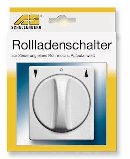 Schellenberg Schalter Tast/Rast/Knebel AP weiß