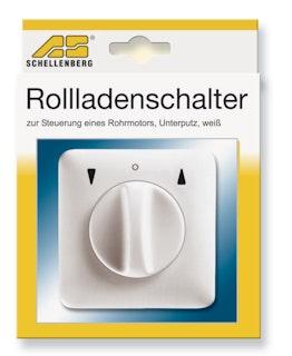 Schellenberg Schalter Tast/Rast/Knebel UP weiß