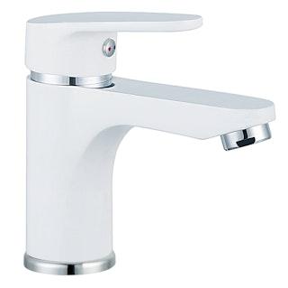Design-Waschtischarmatur ALASKA, Chrom/Weiß