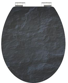 MDF HG WC-Sitz BLACK STONE