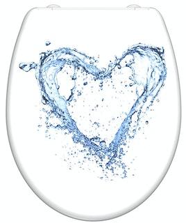 Duroplast WC-Sitz BLUE HEART