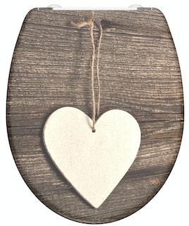 Duroplast WC-Sitz WOOD HEART