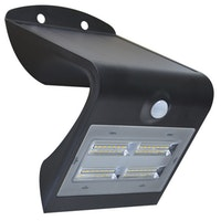 Shada LED Solarstrahler V Innovation, schwarz, Bewegungssensor, IP65, 400Lm, Li-ion Akku (18650) wechselbar