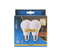 Shada  LED Glühlampe Birne 2-St.-Verpackung A60 E27 5.5W 470LM 2700K nicht dimmbar 180°