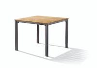 Sieger Gartentisch 95 x 95 cm Aluminium eisengrau / Teak