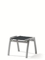 Sieger Hocker TRENTO Aluminium graphit / Kunststoffgewebe grau