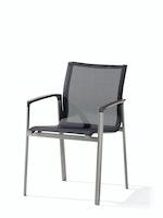 Sieger Stapelsessel BOZEN Aluminium graphit / Kunststoffgewebe silbergrau