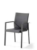 Sieger Stapelsessel LAGOS Aluminium eisengrau / Kunststoffgewebe grau