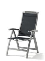 Sieger Klappsessel TRENTO Aluminium graphit / Kunststoffgewebe grau