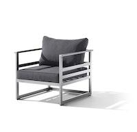 Sieger 1-Sitzer MELBOURNE Aluminium graphit / Sunproof® (100 % Polypropylen) grau