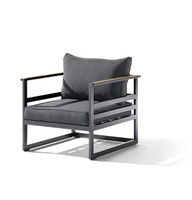 Sieger 1-Sitzer SYDNEY Aluminium eisengrau / Sunproof® (100 % Polypropylen) grau