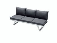 Sieger Lounge / Liege AUCKLAND Aluminium graphit / Kunststoffgewebe / Sunproof® (100 % Polypropylen) grau
