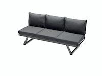 Sieger Lounge / Liege AUCKLAND Aluminium eisengrau / Kunststoffgewebe / Sunproof® (100 % Polypropylen) grau