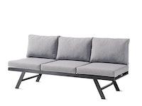 Sieger Lounge / Liege AUCKLAND Aluminium eisengrau / Kunststoffgewebe / Sunproof® (100 % Polypropylen) hellgrau