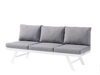Sieger Lounge / Liege AUCKLAND Aluminium weiß / Kunststoffgewebe / Sunproof® (100 % Polypropylen) hellgrau