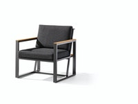 Sieger 1-Sitzer HAVANNA Aluminium eisengrau / Kunststoffgewebe / Sunproof® (100 % Polypropylen) grau