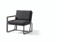 Sieger Seitenteil links HAVANNA Aluminium eisengrau / Kunststoffgewebe / Sunproof® (100 % Polypropylen) grau