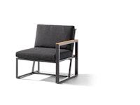 Sieger Seitenteil rechts HAVANNA Aluminium eisengrau / Kunststoffgewebe / Sunproof® (100 % Polypropylen) grau