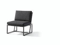 Sieger Mittelteil HAVANNA Aluminium eisengrau / Kunststoffgewebe / Sunproof® (100 % Polypropylen) grau