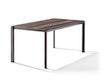 Sieger Tisch 160 x 90 cm Aluminium eisengrau / HPL Eiche dunkel